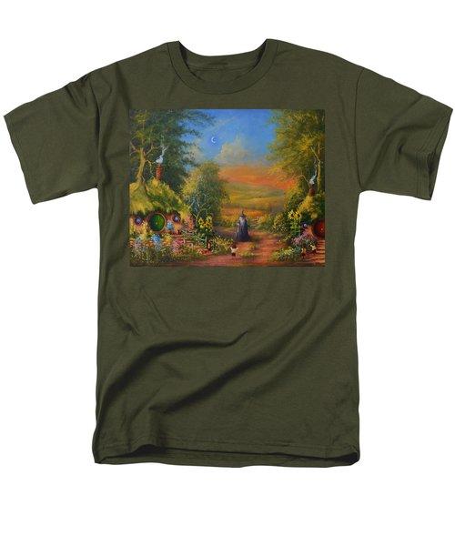 Hobbiton, Disturbing The Peace  Men's T-Shirt  (Regular Fit) by Joe  Gilronan