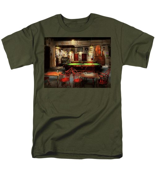 Men's T-Shirt  (Regular Fit) featuring the photograph Hobby - Pool - The Billiards Club 1915 by Mike Savad