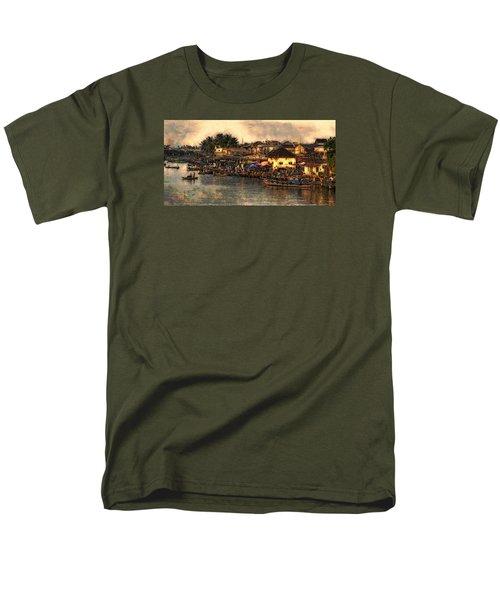 Men's T-Shirt  (Regular Fit) featuring the digital art Hoi Ahnscape by Cameron Wood