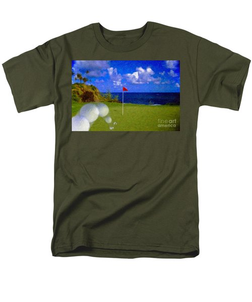 Men's T-Shirt  (Regular Fit) featuring the photograph Fantastic 18th Green by David Zanzinger
