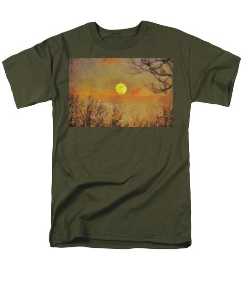 Men's T-Shirt  (Regular Fit) featuring the mixed media Hollow's Eve by Trish Tritz