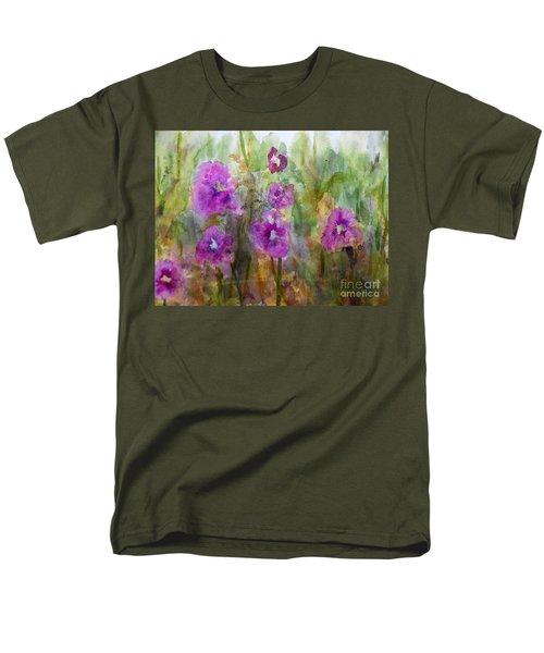 Hollyhocks Men's T-Shirt  (Regular Fit) by Vicki  Housel