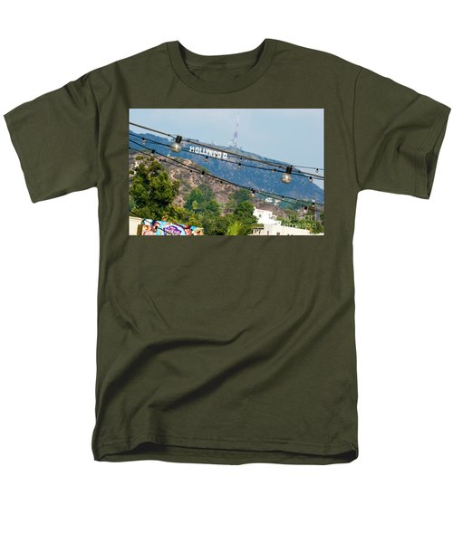 Men's T-Shirt  (Regular Fit) featuring the photograph Hollywood Sign On The Hill 1 by Micah May