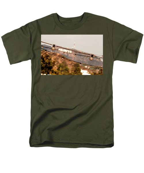 Men's T-Shirt  (Regular Fit) featuring the photograph Hollywood Sign On The Hill 2 by Micah May