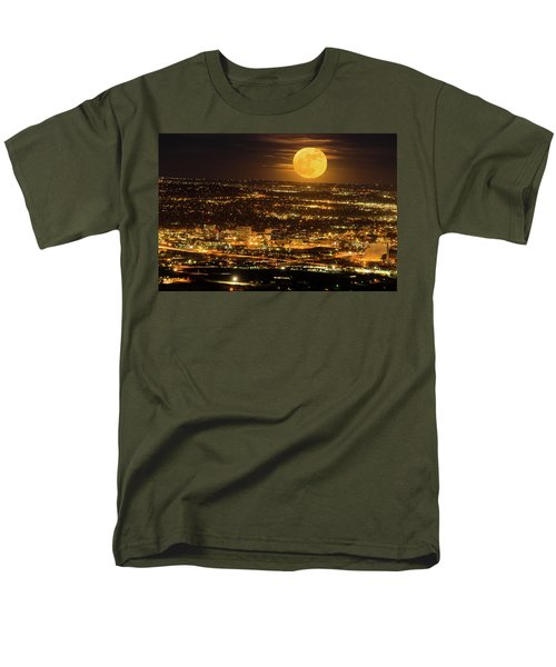 Home Sweet Hometown Bathed In The Glow Of The Super Moon  Men's T-Shirt  (Regular Fit) by Bijan Pirnia