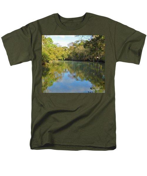 Homosassa River Men's T-Shirt  (Regular Fit) by D Hackett