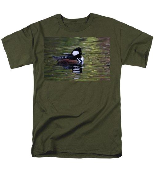 Hooded Merganser Duck Men's T-Shirt  (Regular Fit) by Keith Boone