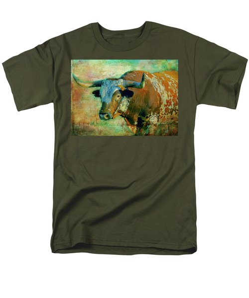 Men's T-Shirt  (Regular Fit) featuring the digital art Hook 'em 1 by Colleen Taylor