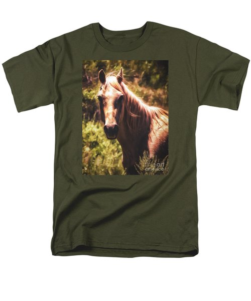 Horse  ... Men's T-Shirt  (Regular Fit) by Chuck Caramella