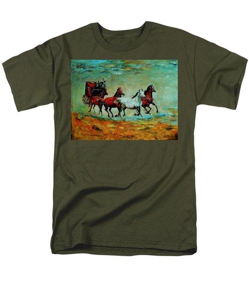 Horse Chariot Men's T-Shirt  (Regular Fit) by Khalid Saeed