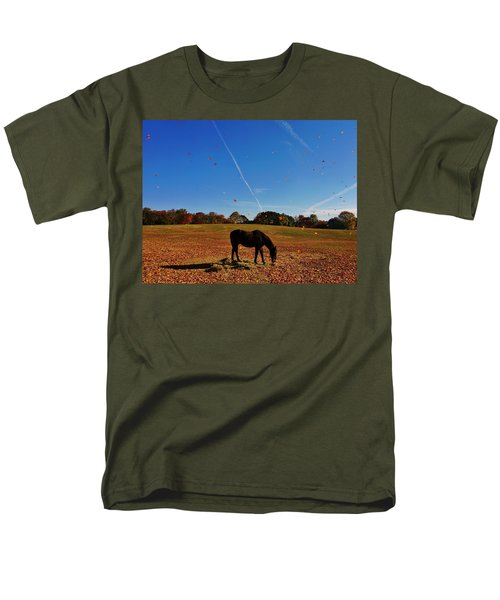 Horse Farm In The Fall Men's T-Shirt  (Regular Fit) by Ed Sweeney