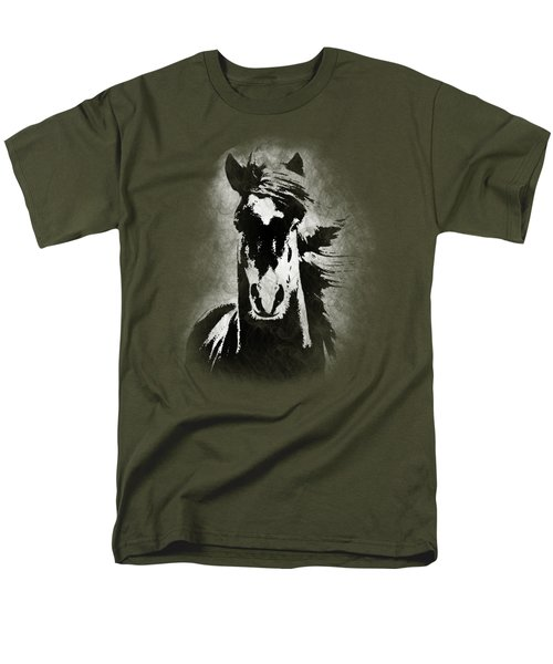 Horse Overlay Men's T-Shirt  (Regular Fit) by Mim White