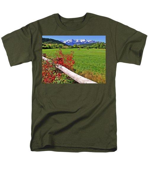 Horses In The San Juans Men's T-Shirt  (Regular Fit) by Scott Mahon