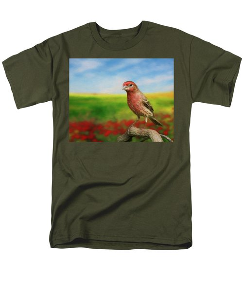 House Finch Men's T-Shirt  (Regular Fit) by Steven Richardson
