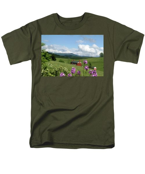 Men's T-Shirt  (Regular Fit) featuring the photograph House On Hill In Lexington by Emanuel Tanjala