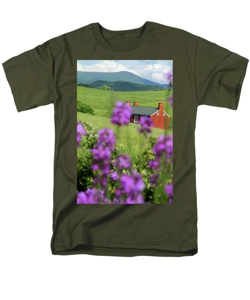 Men's T-Shirt  (Regular Fit) featuring the photograph House On Virginia's Hills by Emanuel Tanjala