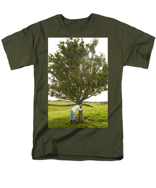 Men's T-Shirt  (Regular Fit) featuring the photograph Hugging The Fairy Tree In Ireland by Ian Middleton