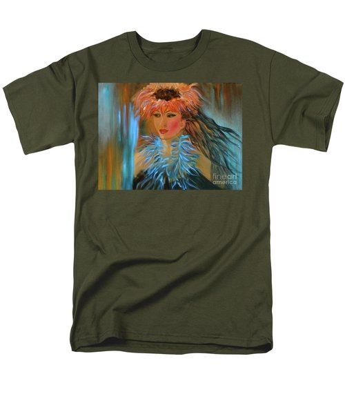 Hula In Turquoise Men's T-Shirt  (Regular Fit) by Jenny Lee