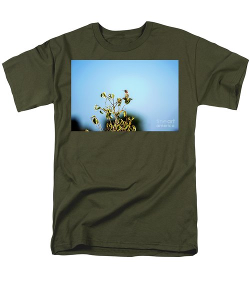 Men's T-Shirt  (Regular Fit) featuring the photograph Humming Bird On A Branch by Micah May