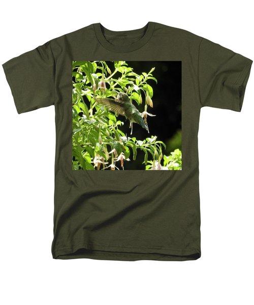 Hummingbird Feeding Men's T-Shirt  (Regular Fit) by Brian Chase