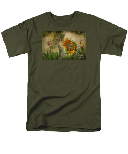 Hummingbirds In My Garden Men's T-Shirt  (Regular Fit) by John  Kolenberg
