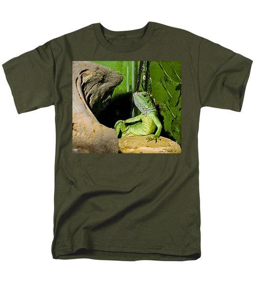 Humorous Pet Iguana Photo Men's T-Shirt  (Regular Fit) by Carol F Austin