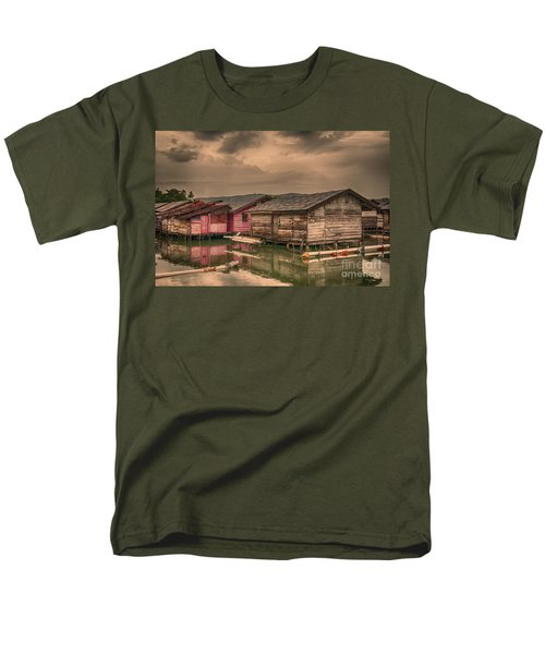 Men's T-Shirt  (Regular Fit) featuring the photograph Huts In South Sulawesi by Charuhas Images