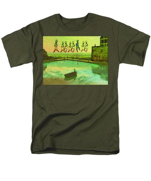 Men's T-Shirt  (Regular Fit) featuring the painting I Wasn't Born To Follow by Mojo Mendiola