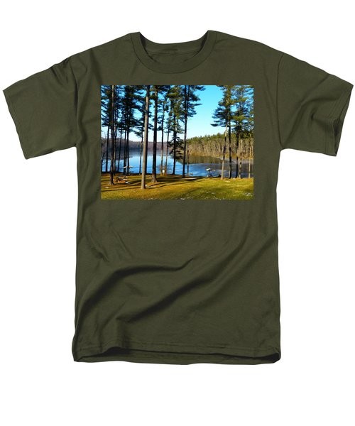Men's T-Shirt  (Regular Fit) featuring the photograph Ice On The Water by Donald C Morgan