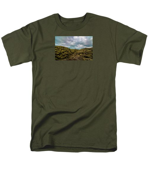 Iceland Moss And Clouds Men's T-Shirt  (Regular Fit) by Venetia Featherstone-Witty
