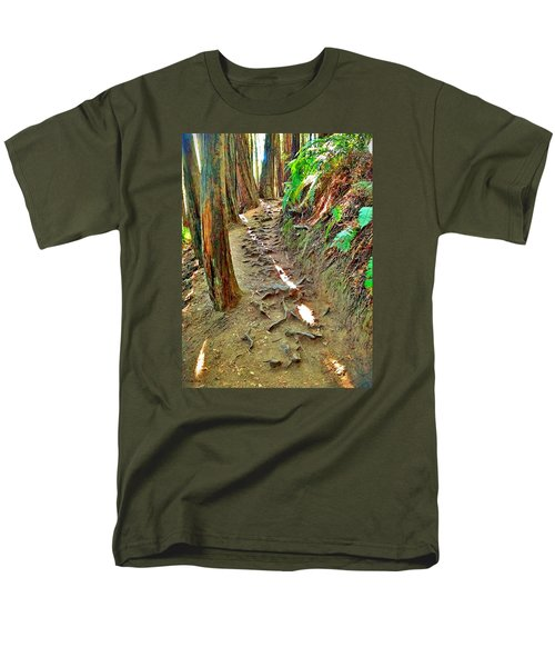 Men's T-Shirt  (Regular Fit) featuring the photograph I'd Rather Be Hiking by Kathy Kelly