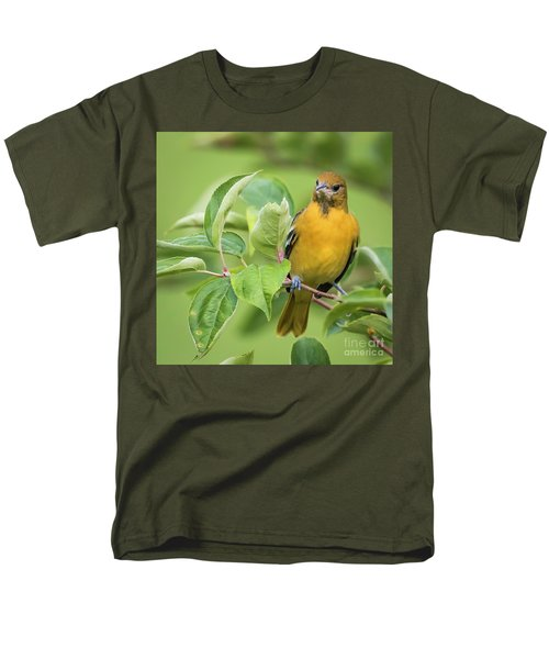 Immature Baltimore Oriole  Men's T-Shirt  (Regular Fit) by Ricky L Jones