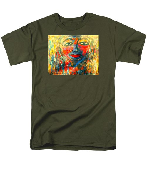 Men's T-Shirt  (Regular Fit) featuring the painting Imperfect Me by Fania Simon