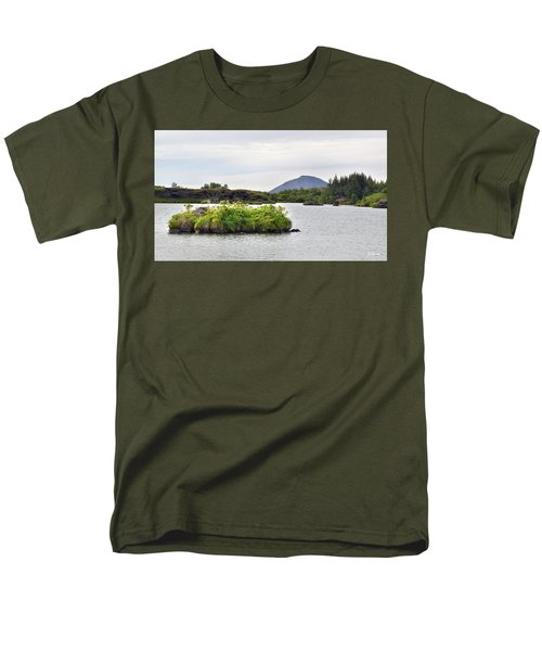 Men's T-Shirt  (Regular Fit) featuring the photograph In An Iceland Lake by Joe Bonita