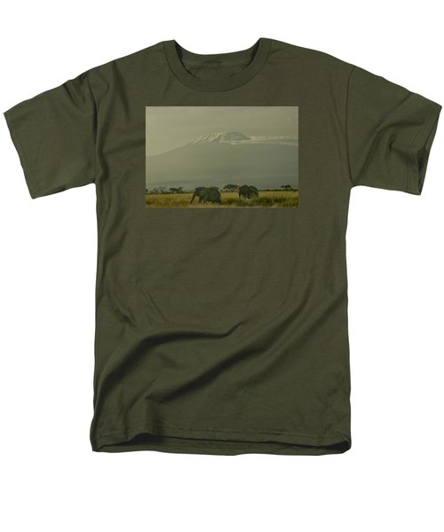 Men's T-Shirt  (Regular Fit) featuring the photograph In The Shadow Of Kilimanjero by Gary Hall