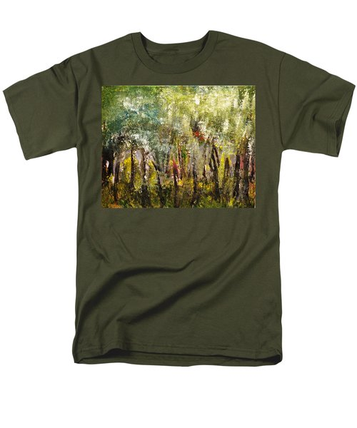 Men's T-Shirt  (Regular Fit) featuring the painting In The Woods by Evelina Popilian
