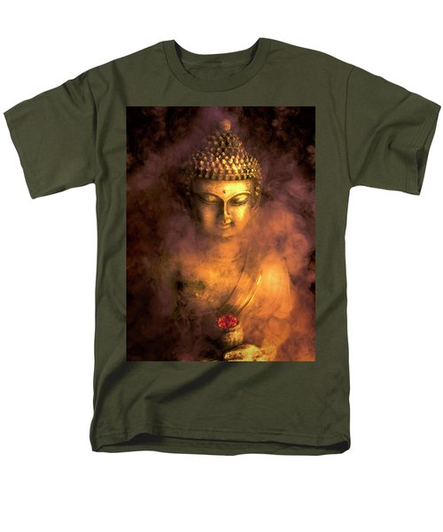 Men's T-Shirt  (Regular Fit) featuring the photograph Incense Buddha by Daniel Hagerman