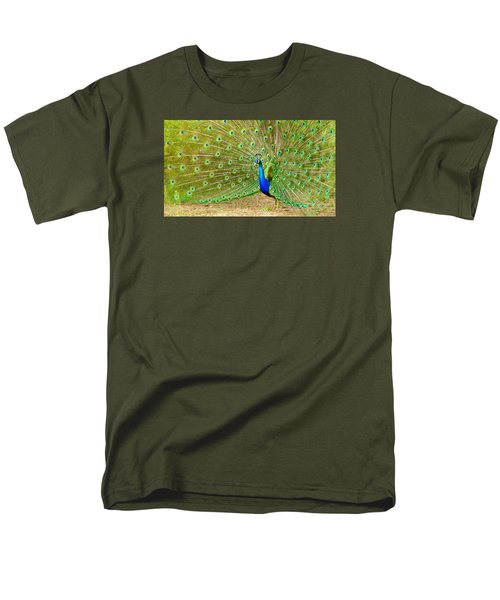 Indian Peacock Men's T-Shirt  (Regular Fit) by Dan Miller