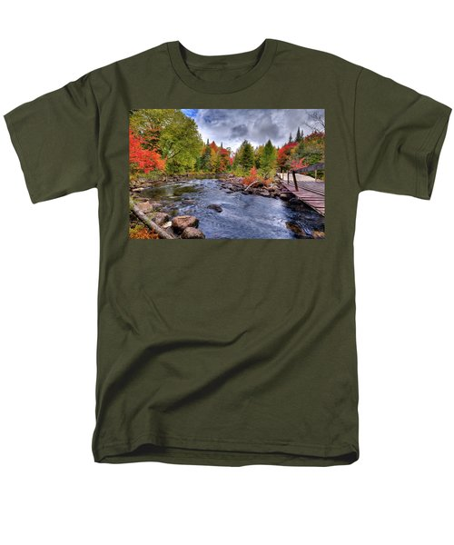 Indian Rapids Footbridge Men's T-Shirt  (Regular Fit) by David Patterson