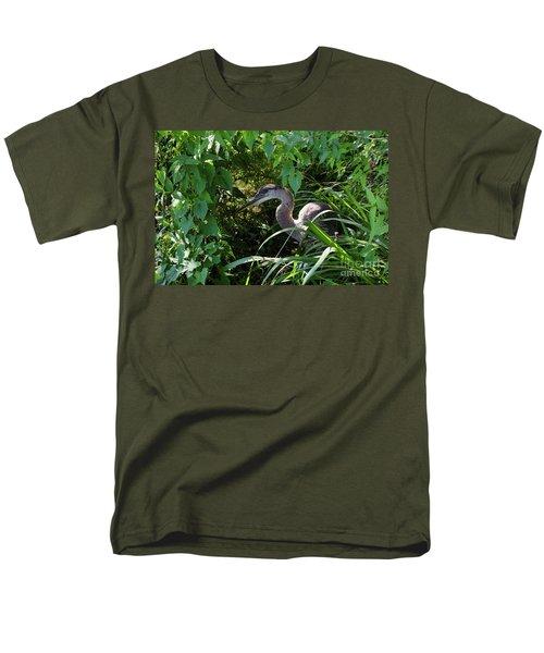 Injure Blue Heron Men's T-Shirt  (Regular Fit) by Donna Brown