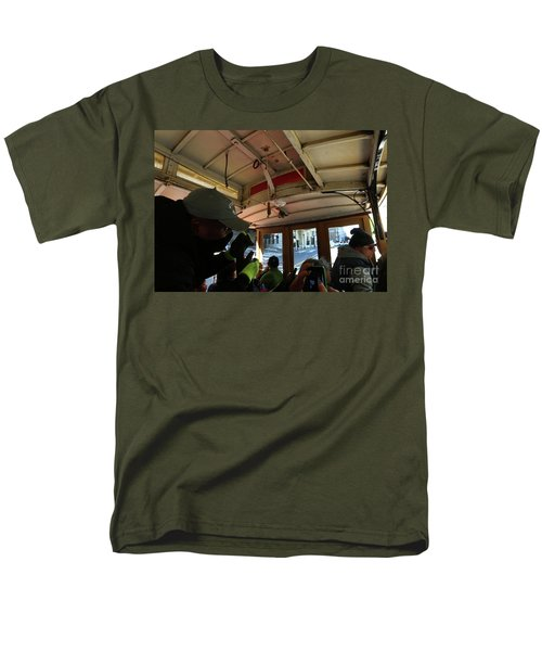 Men's T-Shirt  (Regular Fit) featuring the photograph Inside A Cable Car by Steven Spak