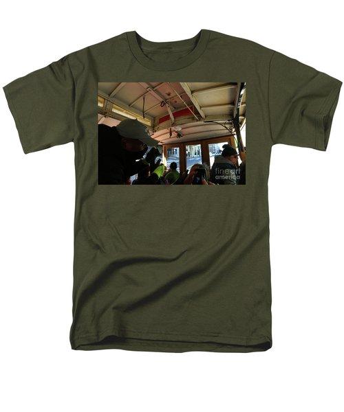 Inside A Cable Car Men's T-Shirt  (Regular Fit) by Steven Spak