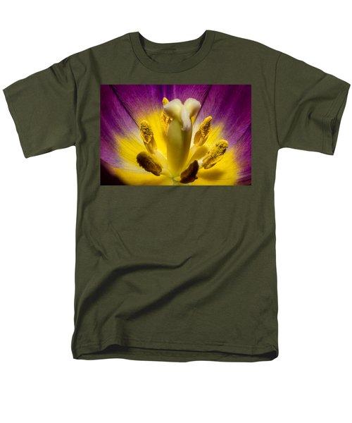 Inside A Purple Tulip Men's T-Shirt  (Regular Fit) by Rainer Kersten