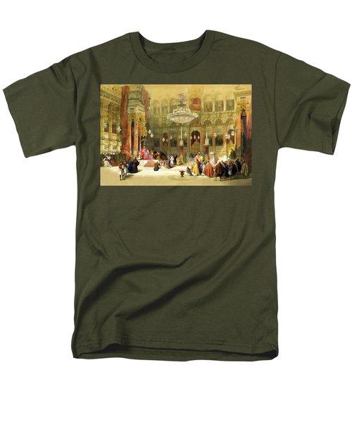 Inside The Church Of The Holy Sepulchre Men's T-Shirt  (Regular Fit) by Munir Alawi