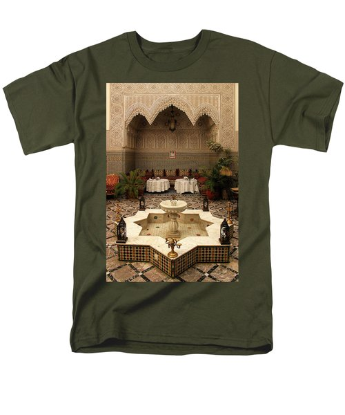 Interior Of A Traditional Riad In Fez Men's T-Shirt  (Regular Fit) by Ralph A  Ledergerber-Photography