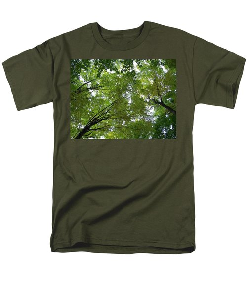 Men's T-Shirt  (Regular Fit) featuring the photograph Into The Trees by Michael  TMAD Finney