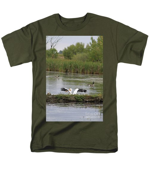 Men's T-Shirt  (Regular Fit) featuring the photograph Into The Water by Alyce Taylor