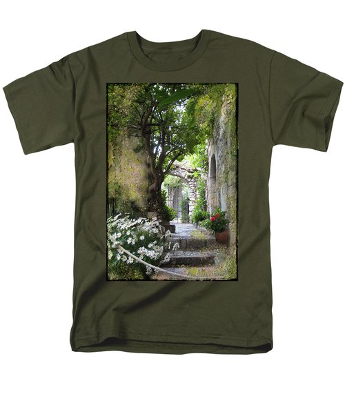 Inviting Courtyard Men's T-Shirt  (Regular Fit) by Carla Parris