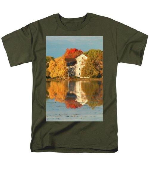 Iola Mill Fall Reflection Men's T-Shirt  (Regular Fit) by Trey Foerster