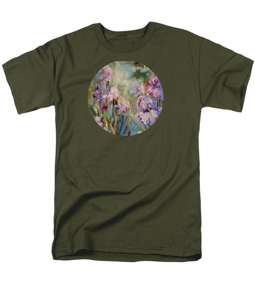 Men's T-Shirt  (Regular Fit) featuring the painting Iris Garden by Mary Wolf